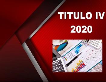 TITULO IV 2020