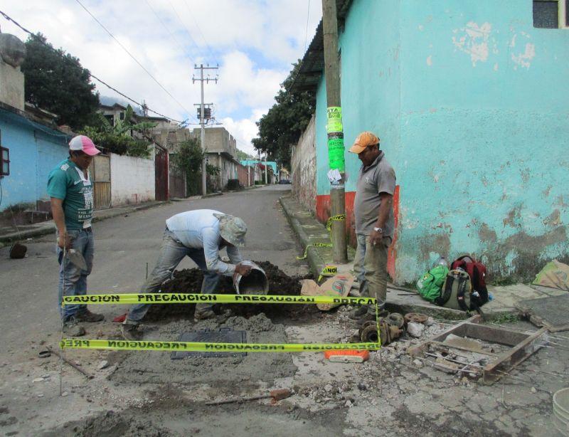 Mejoramiento en la red de Agua potable en Maxtleca de Galeana
