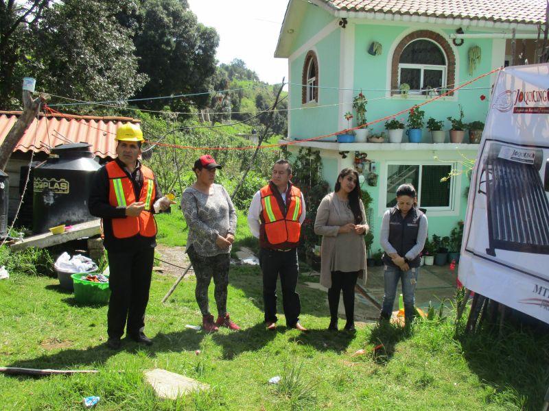 Calentadores solares en la comunidad del Guarda de Guerrero